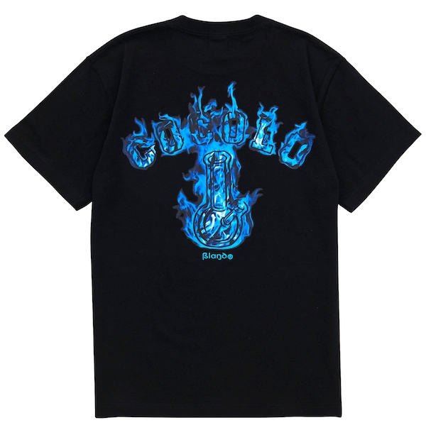 画像1: BLUE FIRE S/S TEE(BLACK) (1)