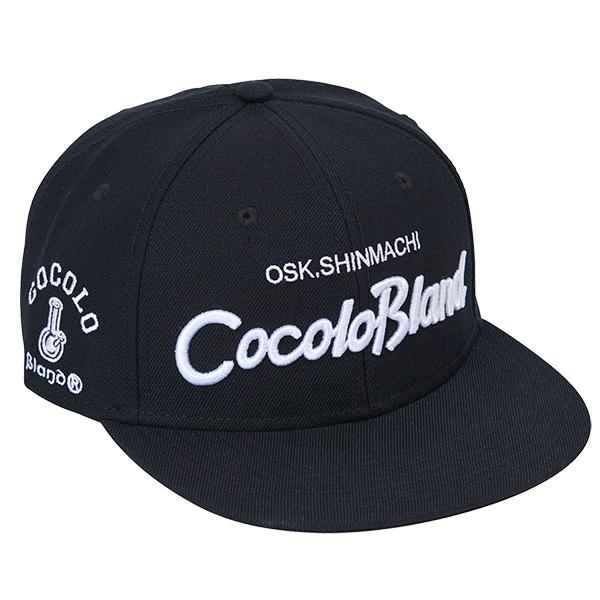 画像1: CURSIVE LOGO SNAP BACK CAP ( BLACK / WHITE ) (1)