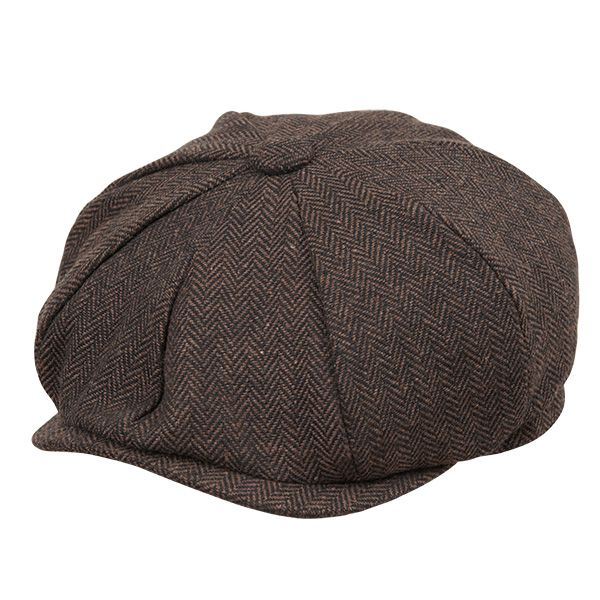 画像1: HERRING BONE CASQUETTE CAP (BROWN) (1)